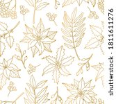 seamless pattern  with gold...   Shutterstock .eps vector #1811611276