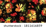 wide vintage seamless... | Shutterstock .eps vector #1811616859