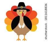 happy thanksgiving celebration... | Shutterstock .eps vector #1811618836