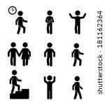 fitness pattern over white... | Shutterstock .eps vector #181162364