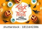 spooky and fun happy halloween... | Shutterstock .eps vector #1811642386
