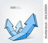 vector arrows | Shutterstock .eps vector #181165004