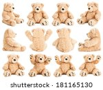 teddy bear in different... | Shutterstock . vector #181165130
