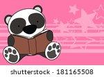 Panda Bear Baby Reading Cartoo...