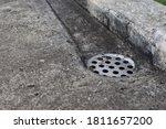 Drainpipe On The Concrete On...