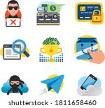 9 miscellaneous cartoon  web... | Shutterstock .eps vector #1811658460