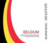 Abstract Waving Belgium Flag....