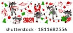vector collection of christmas... | Shutterstock .eps vector #1811682556