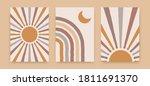 abstract sun rainbow posters.... | Shutterstock .eps vector #1811691370