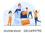 tiny women getting mail from... | Shutterstock .eps vector #1811694790