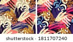 abstract hand drawn doodle...   Shutterstock .eps vector #1811707240