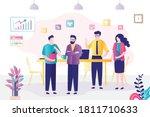 group of people met on business ...   Shutterstock .eps vector #1811710633