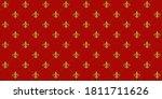 gold fleur de lis luxury... | Shutterstock .eps vector #1811711626