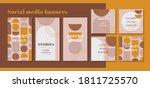 modern web banner for social... | Shutterstock .eps vector #1811725570