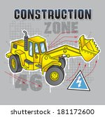construction truck graphic | Shutterstock .eps vector #181172600