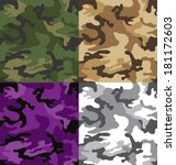 seamless camouflage pattern in... | Shutterstock .eps vector #181172603