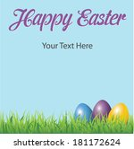 happy easter message template... | Shutterstock .eps vector #181172624