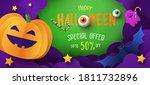 halloween sale promotion banner ... | Shutterstock .eps vector #1811732896