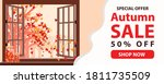 autumn sale text banners for... | Shutterstock .eps vector #1811735509
