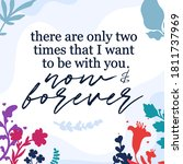 love quotes only two times that ... | Shutterstock .eps vector #1811737969