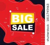 modern big sale banner... | Shutterstock .eps vector #1811745463