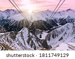 panorama of alpine mountains in ... | Shutterstock . vector #1811749129