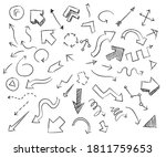 arrows set doodle collection... | Shutterstock .eps vector #1811759653