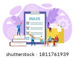 rules in office concept  vector ...   Shutterstock .eps vector #1811761939