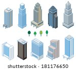 various building   solid figure | Shutterstock .eps vector #181176650
