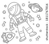 coloring page outline of a... | Shutterstock .eps vector #1811767816