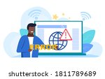 network errors and...   Shutterstock .eps vector #1811789689
