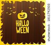 happy halloween text banner or... | Shutterstock .eps vector #1811792503