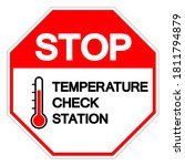 stop temperature check station...   Shutterstock .eps vector #1811794879