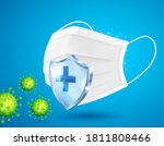medical mask protects against... | Shutterstock .eps vector #1811808466