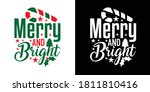 merry and bright printable... | Shutterstock .eps vector #1811810416