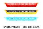 vector  lower third or... | Shutterstock .eps vector #1811811826