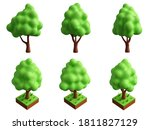 funny cartoon tree on white... | Shutterstock . vector #1811827129