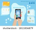 woman hand hold smart phone...   Shutterstock .eps vector #1811836879