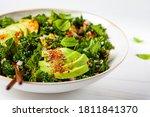 Healthy Salad With Kale  Quinoa ...