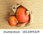 Two Fresh Organic Pumpkins In A ...
