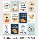 autumn templates set. perfect...   Shutterstock .eps vector #1811899270
