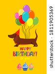 happy birthday to you  greeting ... | Shutterstock .eps vector #1811905369