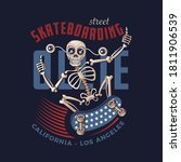 funny skater skeleton character.... | Shutterstock . vector #1811906539