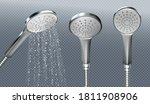 shower head with water spray... | Shutterstock .eps vector #1811908906