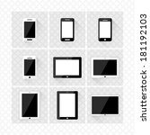 set of electronic devices with...