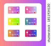 credit cards set ui mobile...