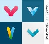letter v | Shutterstock .eps vector #181194944