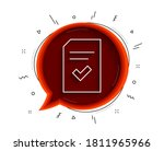 checked document line icon....