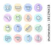 thin line icons for... | Shutterstock . vector #181196618