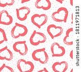 hand drawn heart. vector... | Shutterstock .eps vector #1811971813